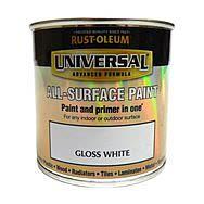 RustOleum Universal All Surface Paint 250ml White Gloss