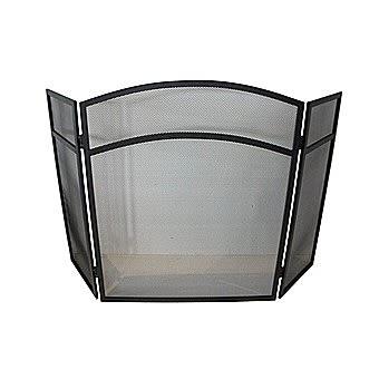 De Vielle Classic 3 Panel Fire Guard In Black DEF055177