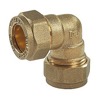 Compression Brass 90 Degree Elbow 15mm