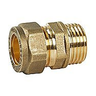 Compression Male Connector 15mm x 3/4 Inch