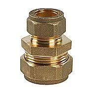 Compression Brass Reducing Straight 22mm x 15mm