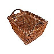 Manor Collection Wicker Bread Log Basket with Rope Handles - 0311L