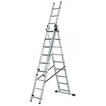 Hailo 3 Section Aluminium Combination Ladder
