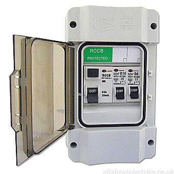 Control Gear Direct IP55 Garage Unit 63 Amp RCCB