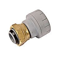 Polyplumb Straight Tap Connector 15mm x 1/2 Inch