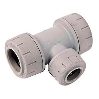 Polyplumb Reducing Tee 15mm x 15mm x 10mm