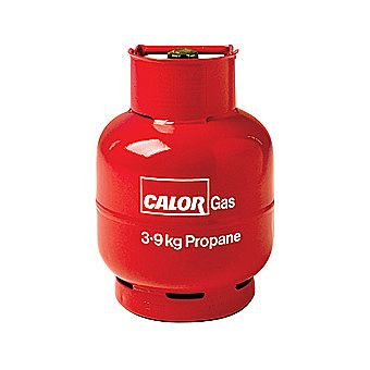 Calor Gas 3.85 Kilo Propane Gas Bottle Charge Red
