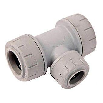 Polyplumb Reducing Tee 22mm x 22mm x 15mm