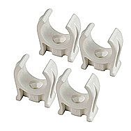 Plastic Snap Fix Pipe Clips 15mm Pack of 4
