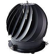 Rotorvent Ultralite Spinning Chimney Cowl For Downdraught in Black