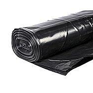 Builders Black Polythene 300 Micron 4 x 25 Meters
