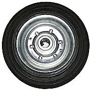 Steel Hub Wheel With Solid Rubber Tyre 1 Inch