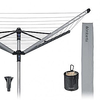 Brabantia 4 Arm Rotary Clothes Line Advanced 60 Lift-o-Matic