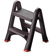 Curver 2 Tier Foldable Stepstool In Grey