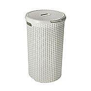 Curver Rattan Round Laundry Basket 48 Litre