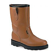 Sterling SS403SM Leather Rigger Safety Boots - Tan