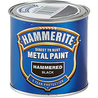 Picture of Hammerite Direct To Rust Metal Paint Hammered Black