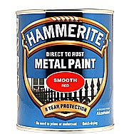 Hammerite Direct To Rust Metal Paint Smooth Red 0.25 Litres