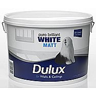 Dulux Rich White Matt 7 Litre Ceilings And Walls Emulsion