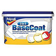 Polycell 3 In 1 Base Coat For Walls 5 Litre Tub