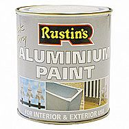 Rustins Quick Drying Aluminium Paint 0.5 Litre