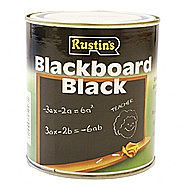 Rustins Quick Drying Blackboard Paint 0.5 Litres Black