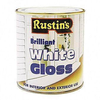 Rustins Brilliant White Gloss Interior And Exterior Gloss 0.5 Litres