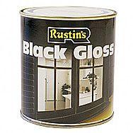 Rustins Black Gloss Interior and Exterior Use 0.5 Litre