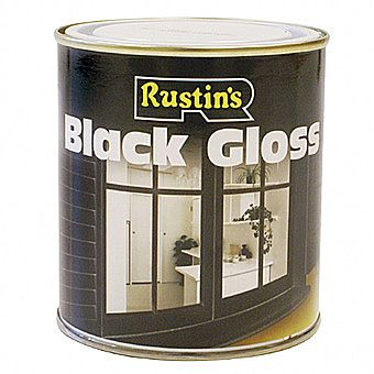 Rustins Black Gloss Interior and Exterior Use 0.5 Litre
