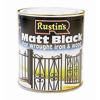 Rustins Matt Black Quick Drying Paint 0.5 Litres