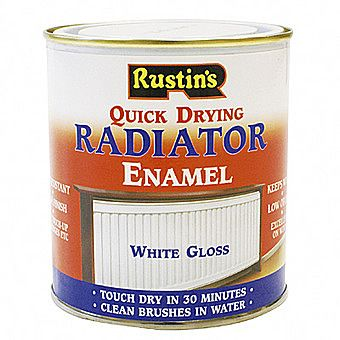 Rustins Quick Drying Radiator Enamel In Gloss White 0.5 Litre