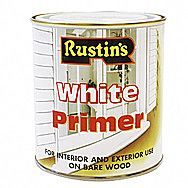 Rustins Lead Free White Primer 0.5 Litres