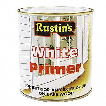 Rustins Lead Free White Primer 0.5 Litres