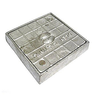 Square Alloy Seal Plate 150 x 150mm
