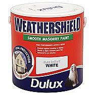 Dulux Pure Brilliant White Weathershield Masonry Paint 7.5 Litre