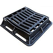 Hinged Dish Gully Grate 300 x 300 mm
