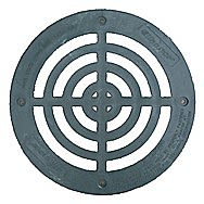 Round Galvanised Inspection Hole Grate 14 Inch