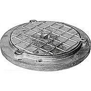 Round Galvanised Alloy Inspection Cover 340 mm