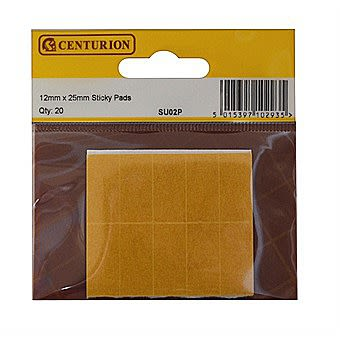 Centurion SU02P Sticky Pads 12mm x 25mm Pack of 20