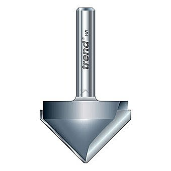 """Trend 11/3X1/4TC 1/4"""" 45° Chamfer 'V' Groove Router Cutter"""