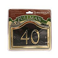 Centurion Black And Gold Pullman House Number 27x13cm