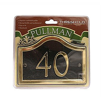 Picture of Centurion Black And Gold Pullman House Number 27x13cm