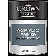 Crown Trade Acrylic Primer Undercoat White 1 Litre