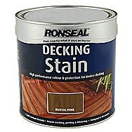 Ronseal Rustic Pine Decking Stain 2.5 Litres