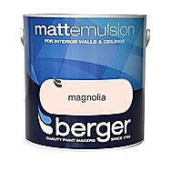 Berger Matt Magnolia Emulsion 10 Litre Tub
