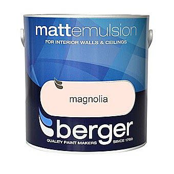 Berger Matt Magnolia Emulsion 10 Litre Tub