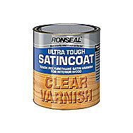 Ronseal Ultra Tough SatinCoat Clear Varnish 2.5 Litre