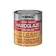 Ronseal Ultra Tough Hardglaze Clear Varnish 0.75 Litre