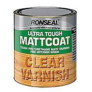 Ronseal Ultra Tough Hardglaze Matt Clear Varnish 0.25 Litre