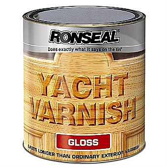 Ronseal Clear Gloss Yacht Varnish 0.5 Litres